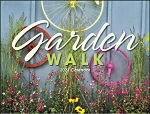 """Garden Walk 2021 Hanging Wall Calendar - 19"""" x 11"""" (Open) 2021 Monthly Appointment Planner and Organizer. Beautiful Eye catching Flowers, Gardens, and Plants."""