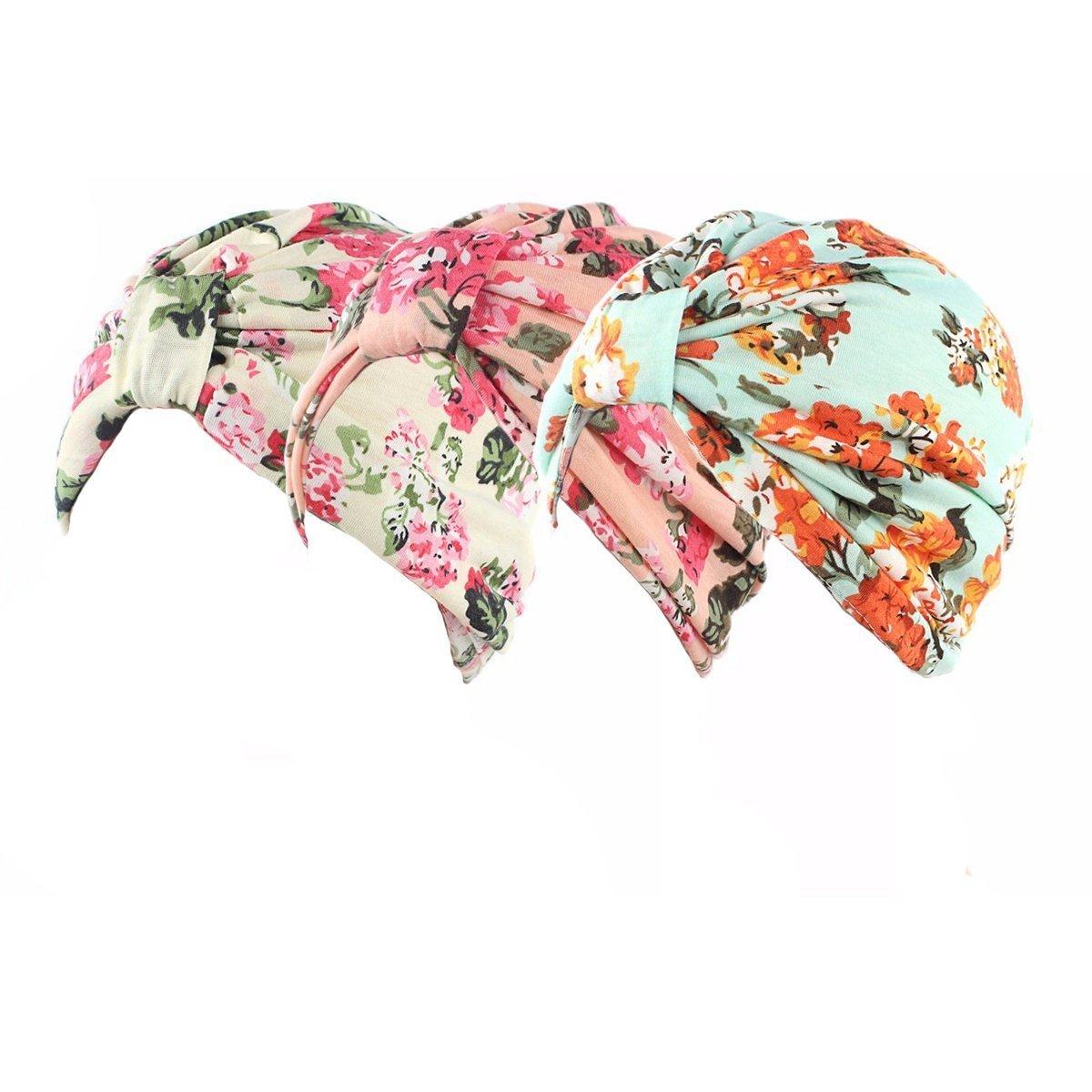 Ever Fairy/® Womens Floral Print Cotton Turban Chemo Sleep Cap,Turban Hat Cap Hair Wrap