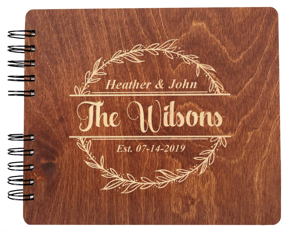 Couples Custom Wreathe (11x8.5 or 8.5'' x7) Guest Book Wedding Mr Mrs Decor Im Getting Married Rustic Photo Album Gift by Weddings-by-StockingFactory (Image #1)