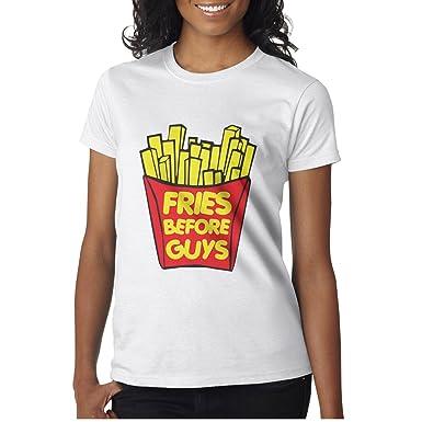 44de9a50035 City Farmer Womens Fries Before Guys Short Sleeve Funny Shirts For ...
