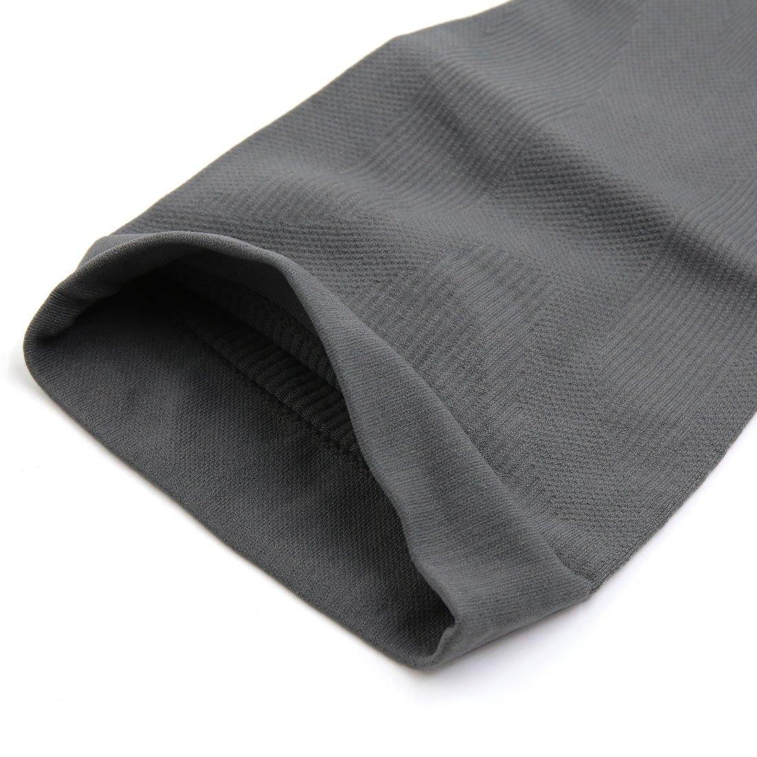 eDealMax 1 paire gris M Taille Unisexe élastique Jambe Façonner Tube Chaussettes mollet Bas Manches