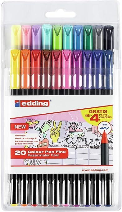 Edding - E1200-20-Bts Pack con 16+4 Rotuladores, 1200, Colores 1 ...
