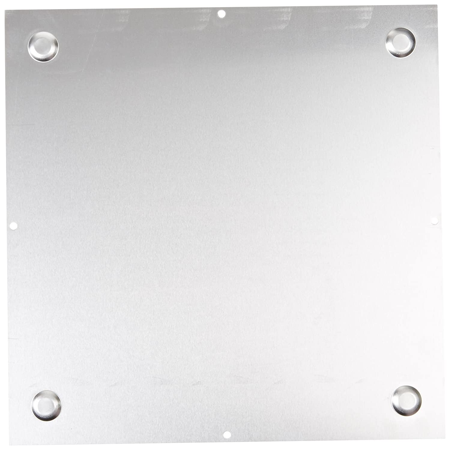 Natural Finish 11-51//64 Length x 11-51//64 Width x 9//64 Thick BUD Industries BPA-1527 Aluminum Chassis Bottom Plate