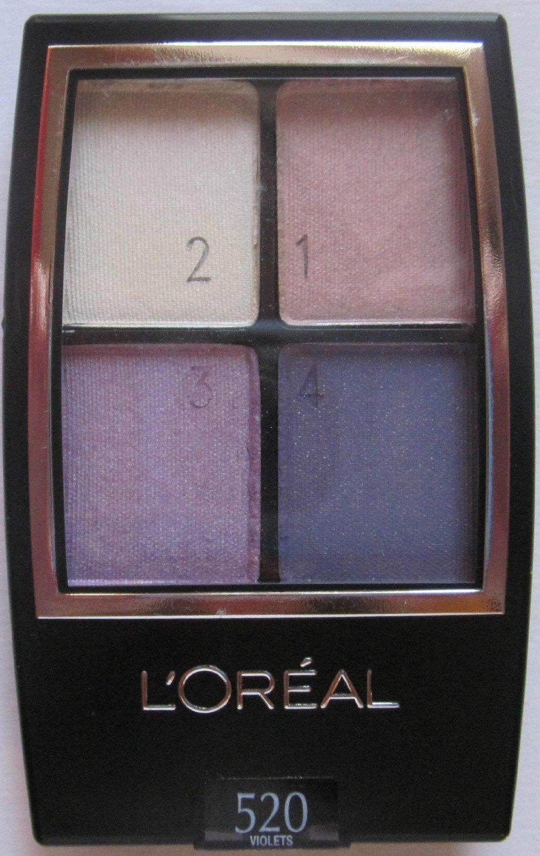 (3 Pack) L'Oreal Paris Wear Infinite Studio Secrets Eye Quad, Violets 520 for cheap