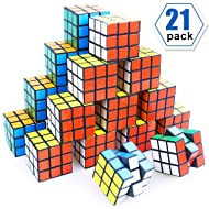 Mini Cube, Puzzle Party Toy, Eco-Friendly Material with Vivid Colors,Party Favor School Supplies Puzzle Game Set for Boy Girl Kid Child, Magic Cube Goody Bag Filler Birthday Gift, Pack of 21