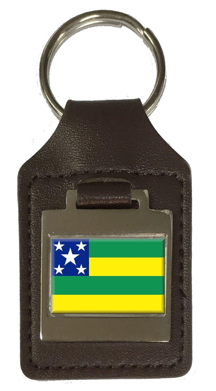 Leather Keyring Engraved Sergipe Flag