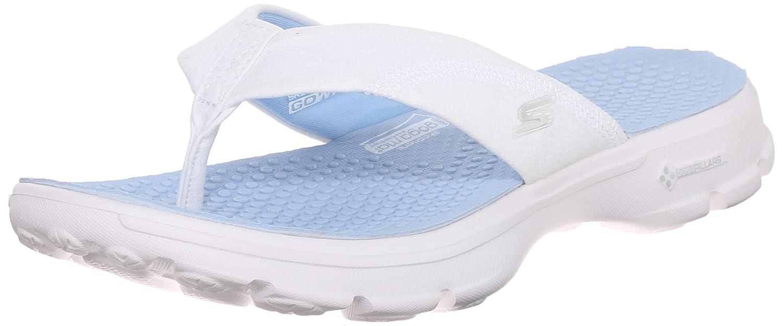 Skechers Go Walk Nestle Damen PlateauSandale Weiß (Wlbl)
