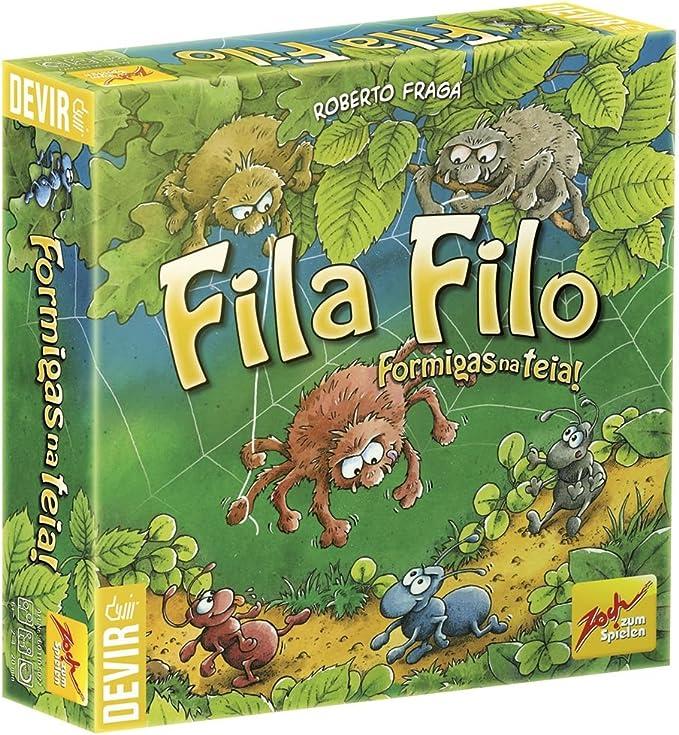 Devir- Fila Filo Juego de Tablero Infantil (BGFILO): Amazon.es: Juguetes y juegos