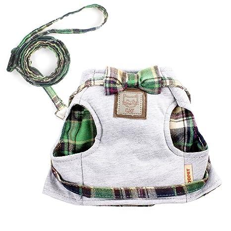 Ezeso - Arnés y correa ajustables de malla suave para gatos, ideal para paseos y