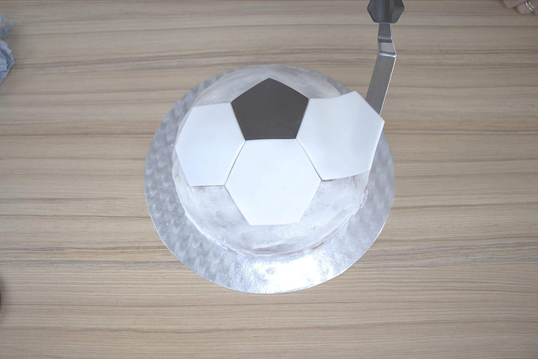 wei/ß ABS KUNSTSTOFF Fu/ßball geeignet PME FB49 Football//Soccer Pattern Cutters Ausstechformen
