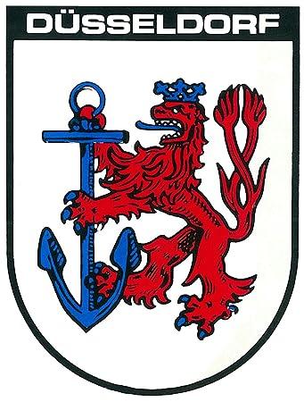 Aufkleber Wappen Dusseldorf 115 X 90 Mm Schneller