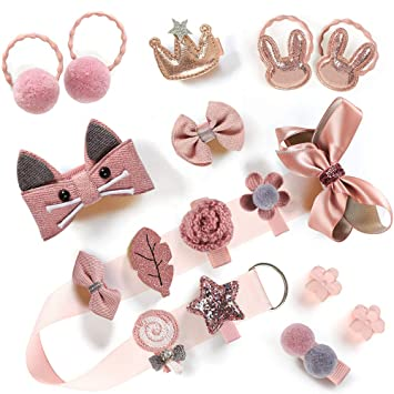 Cute Cartoon Kids Hair Pins Baby Infant Flower Clips Girls Lovely Hairpins