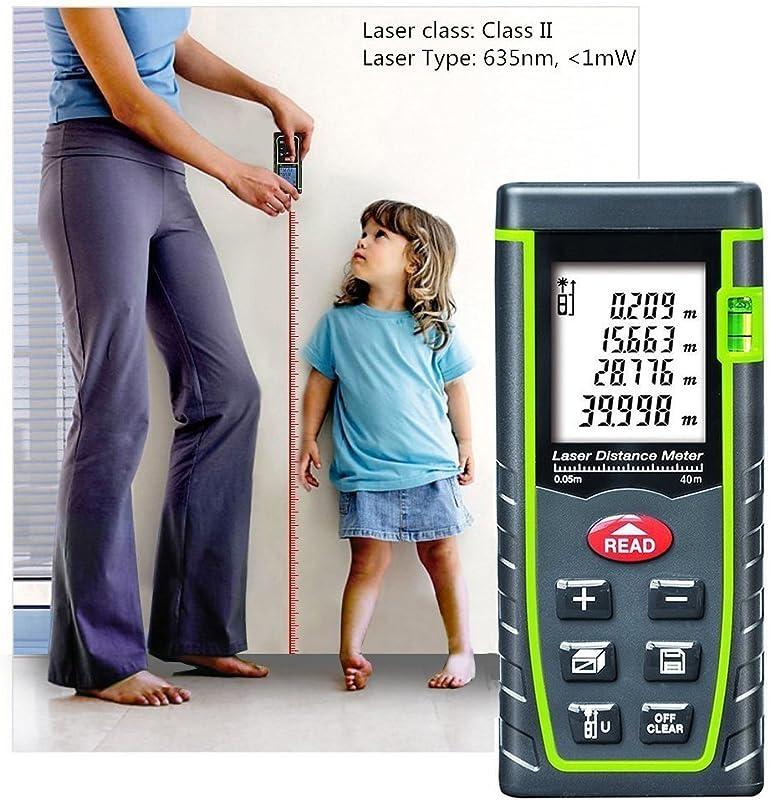 ieGeek Laser Distance Measure, 131ft Handheld M/in/Ft Laser Distance Meter Measuring Device Laser Tape Measure Rangefinder