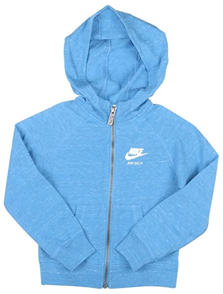 f7960af40322 Nike Toddler Girls  (2T-4T) Gym Vintage Full Zip Hoodie-Blue-3T  Amazon.ca   Clothing   Accessories