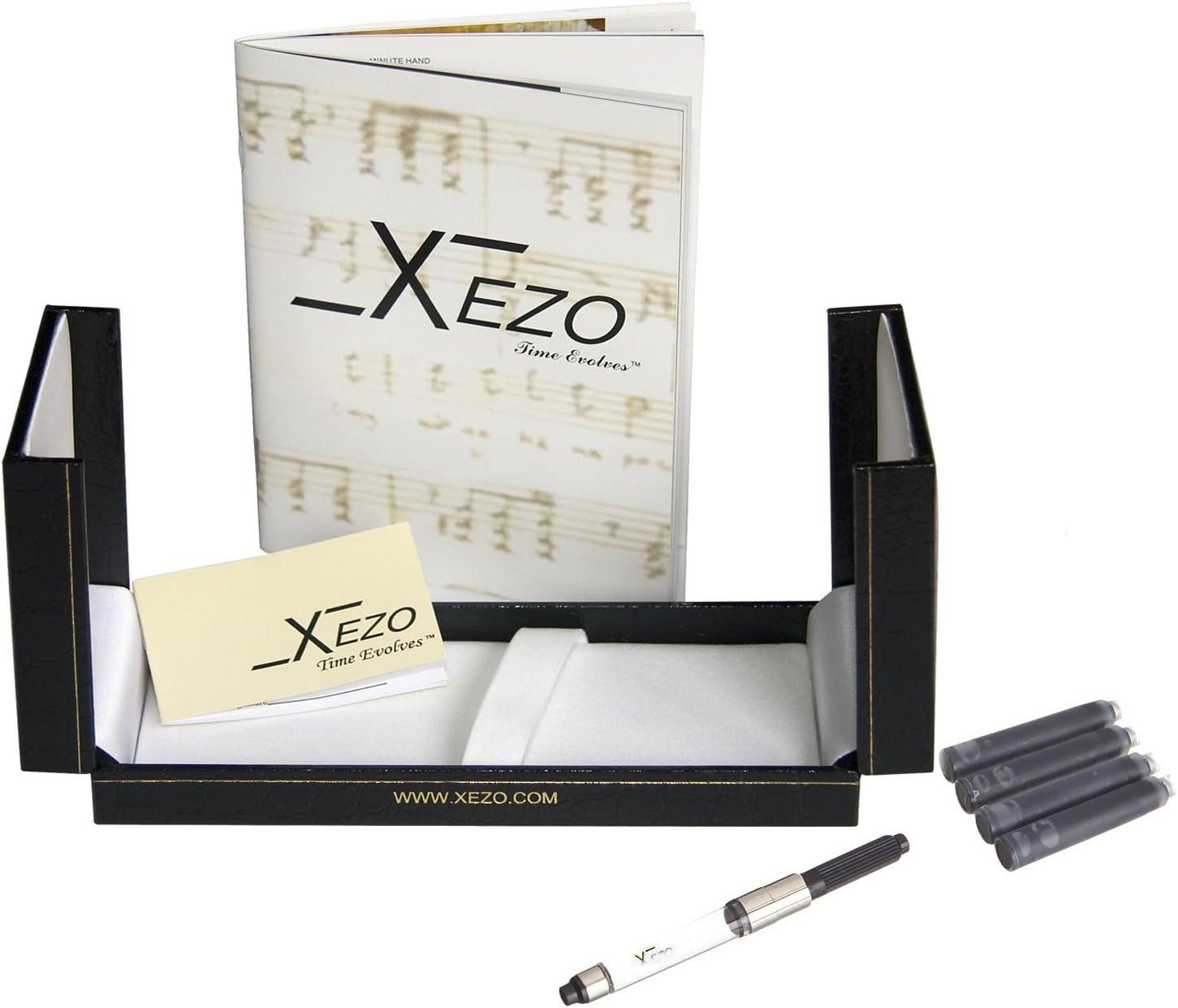 Lacquered Handcrafted Platinum Plated Fine Rollerball Pen Xezo Maestro Diamond Cut Maestro LG Tanzanite R Tanzanite Blue