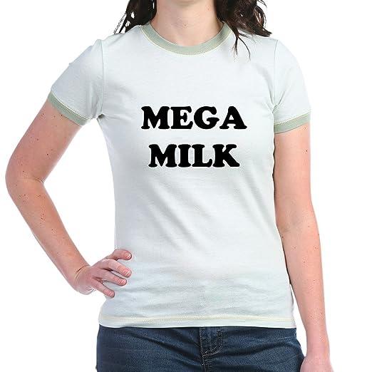 c680ddd6 Amazon.com: CafePress - MEGAMILK.Png T-Shirt - Jr. Ringer T-Shirt, Slim Fit  100% Cotton Ringed Shirt: Clothing