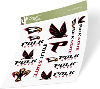 Polk State College Eagles NCAA Vinyl Decal Laptop Water Bottle Car Scrapbook State Boarder Sticker