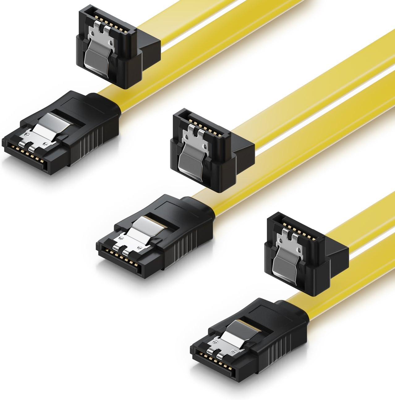 deleyCON 3X 50cm Cable SATA III Cable de Datos S-ATA 3 6 GBit/s ...