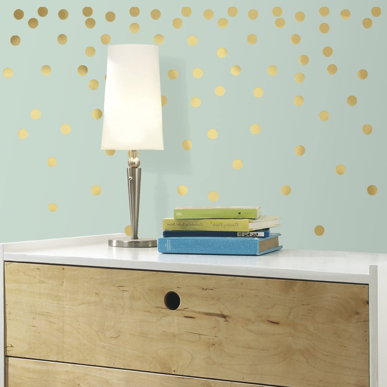 RoomMates Gold Confetti Dots Peel And Stick Wall Decals
