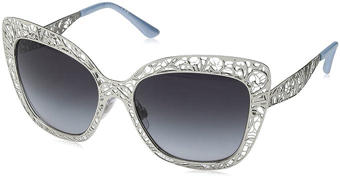 bc098122884 Amazon.com  Dolce   Gabbana Women s Metal Woman Sunglass Square ...
