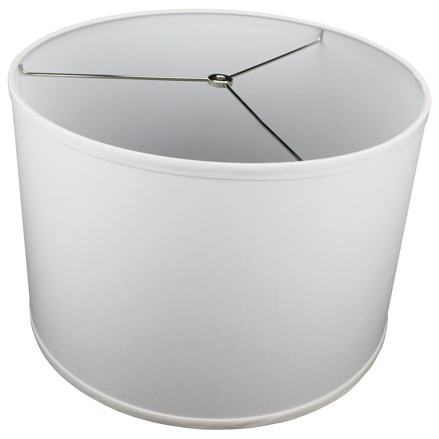 FenchelShades.com 16'' Top Diameter x 16'' Bottom Diameter 11'' Height Cylinder Drum Lampshade USA Made (White) by FenchelShades.com