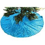 tree skirt sequin tree skirt48 christmas tree skirt unique sparkly glittery holiday - Peacock Christmas Tree Skirt