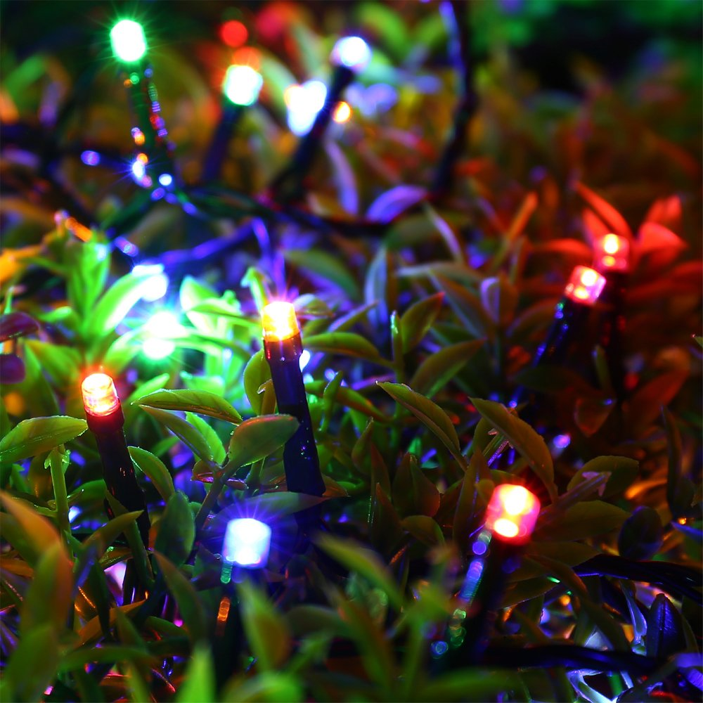 200 LED String Lights - RECESKY 20m Christmas String Light with 8 Lighting Modes - Fairy Lights for Outdoor, Indoor, Garden, Yard, Home, Party, Dorm, Wedding Decorations (Multi Color)