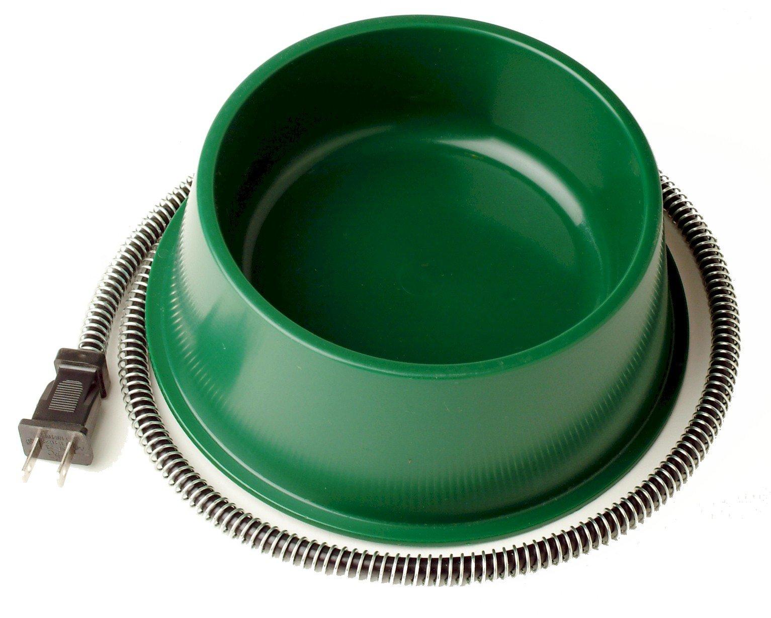 Farm Innovators Model QT-1 1-Quart Heated Bowl, Green, 25 Watts