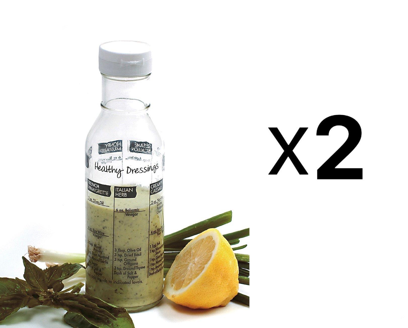 Norpro 809A Salad Dressing Maker, Clear, Set of 2