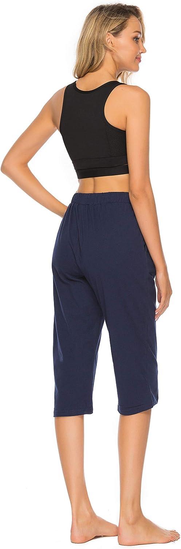 Vlazom Pantaloni del Pigiama Donna 100/% Cotone Estate Pantaloni da Pigiama da Donna