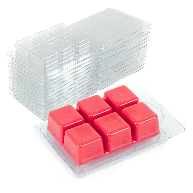 DGQ Wax Melt Molds 100 Pack Wax Molds Clear Plastic Wax Melt Clamshells