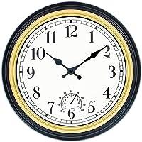 45Min 12 Inch Outdoor/Indoor Round Classic Clock Retro Quartz Decorative Wall Clock