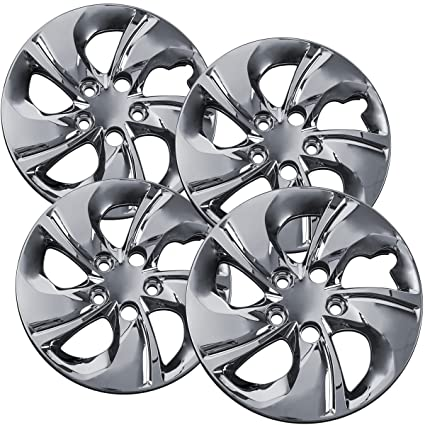 15 inch Hubcaps Best for 2013-2015 Honda Civic - (Set of 4) Wheel Covers 15in Hub Caps Chrome Rim Cover - Car Accessories for 15 inch Wheels - Snap On ...