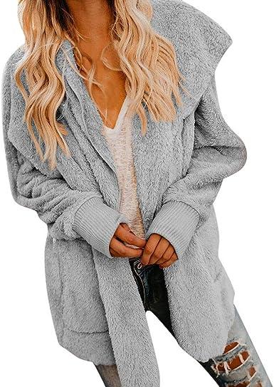 PXiong Women Ladies Loose Hooded Overcoat Zipper Sweatshirt Coat Sports Coat Top