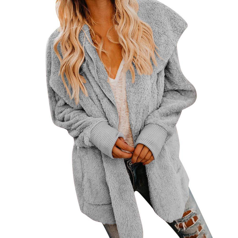 Darringls Mujer Invierno Abrigo Casual Mujer Sudadera con Capucha Cremallera Chaqueta de Lana Capa Jacket Parka Pullover 2018: Amazon.es: Ropa y accesorios