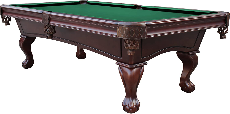 Amazon.com : Playcraft Charles River 8u0027 Espresso Slate Pool Table W/  Leather Drop Pockets : Sports U0026 Outdoors