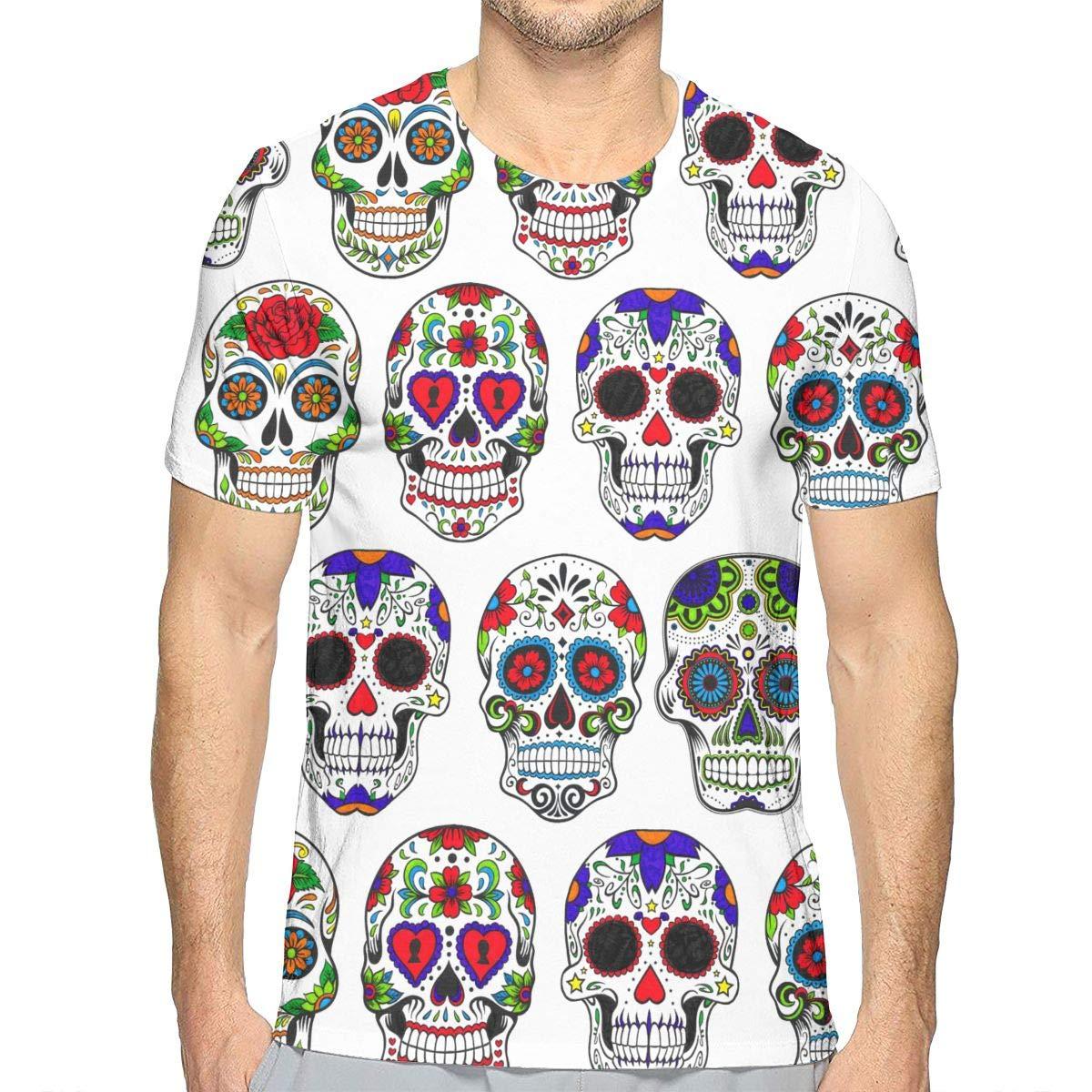 Mens 3D Printed Shirts Slim-Fit Top Summer Henley Shirt