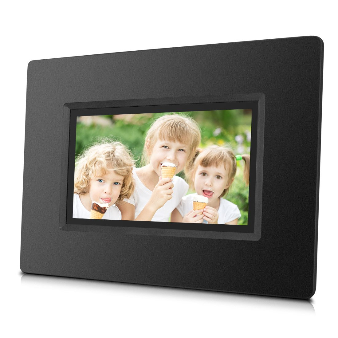 7 inch WiFi Cloud Digital Photo Frame with Touch Screen, Free Cloud Storage & 4GB Internal Memory, Portable, Remote Photo Sharing