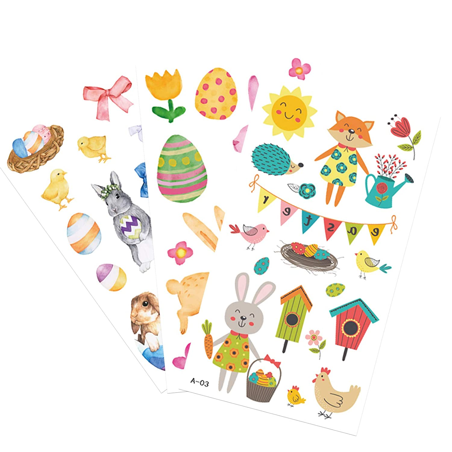 10 Sheets suitable for adults and children Easter series tattoo stickers body tattoo waterproof stickers