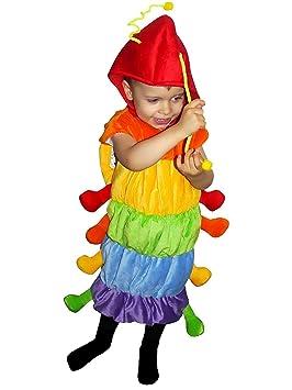 F83 Tamaño 5-6 años traje oruga para los niños, cómodo de llevar en