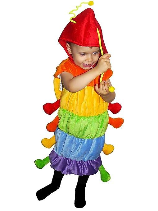 F83 Taglia 3-4A (98-104cm) Costume da Bruco per bambini fcc53f27c33