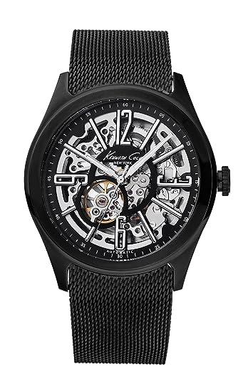 Kenneth Cole KC9100 - Reloj analógico automático para hombre con correa de acero inoxidable, color negro: Kenneth Cole: Amazon.es: Relojes
