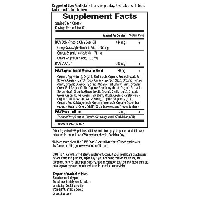 CoQ10 en bruto, 200 mg, 60 Caps Veggie - Jard_n de la Vida ...