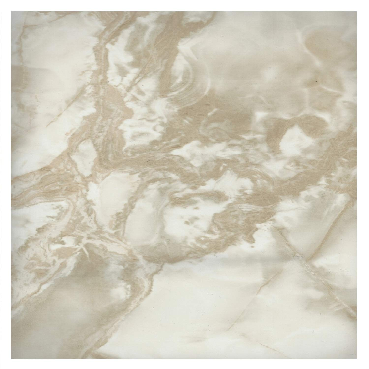 EZ FAUX DECOR Self Adhesive Vinyl Peel and Stick Riviera Beige White Faux Marble Granite Film to Update Countertop or Backsplash Thick Waterproof 36'' W x 72'' Not Grandma's Contact Paper Why Paint?