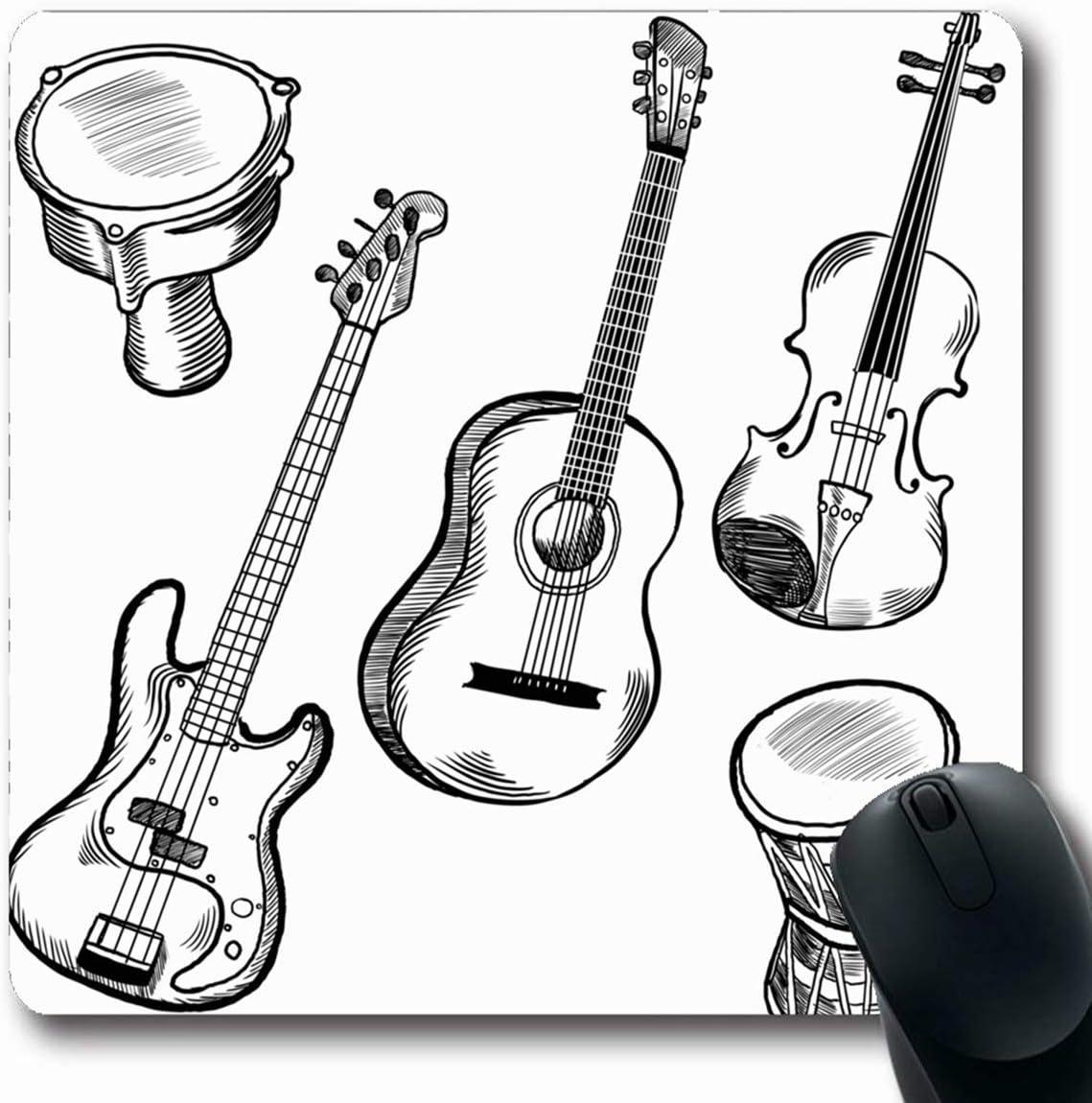 Luancrop Alfombrillas para computadoras Instrumentos Musicales ...