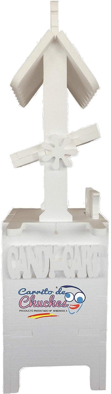 CARRITO DE CHUCHES Candy Cart Junior Bodas Rosa.para Decorar. Medidas 170cms(Alto) x70cms(Ancho) x47cms(Fondo),Fabricado en Material XPS extrusionado.