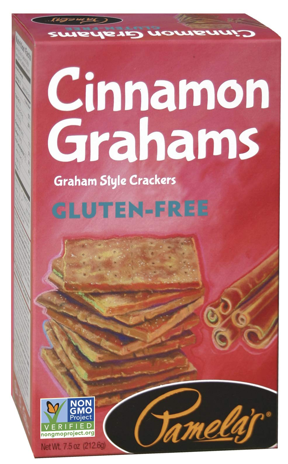 Pamela's Products Gluten Free Cinnamon Grahams, 7.5 Ounce, 6 Count by Pamela's Products