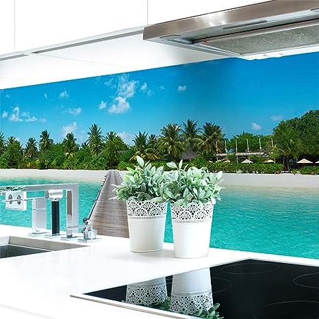 Küchenrückwand Insel Premium Hart Pvc 0 4 Mm Selbstklebend 340x60cm Küche Haushalt