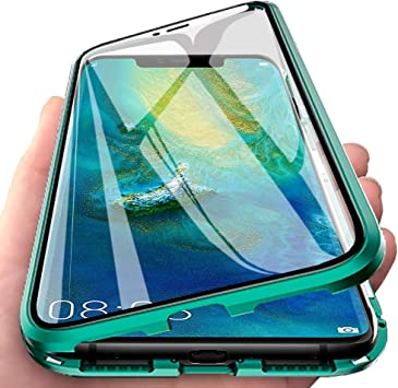 Eabhulie Huawei Mate 20 Pro Funda, Metal Bumper con Adsorción ...