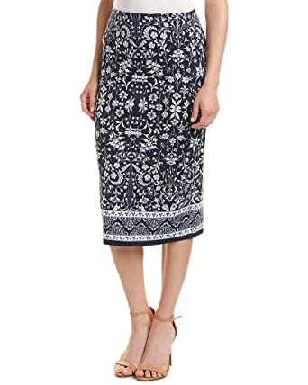 Max Studio Womens Midi Skirt, Blue at Amazon Women's Clothing store: